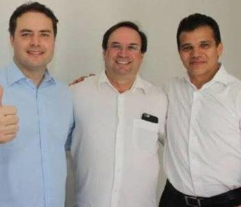 Foto: divulgação; Renan Filho, Luciano Barbosa e Ricardo Nezinho marido da candidata a vice na chapa de Luciano