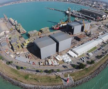 Foto aéria do terminal portuário de Maceió — © Reprodução
