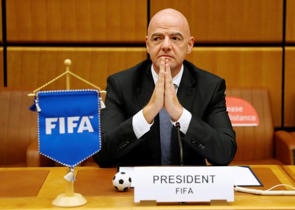 Presidente da FIFA Gianni Infantino — © Reprodução