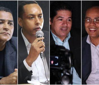 Comentaristas do programa 'BR104 Eleições 2020' — © BR104