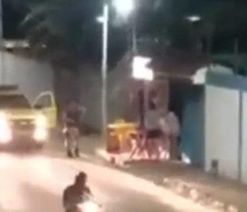 Polícia frustra assalto a mata suspeito que fazia mulher refém — © Reprodução/Vídeo