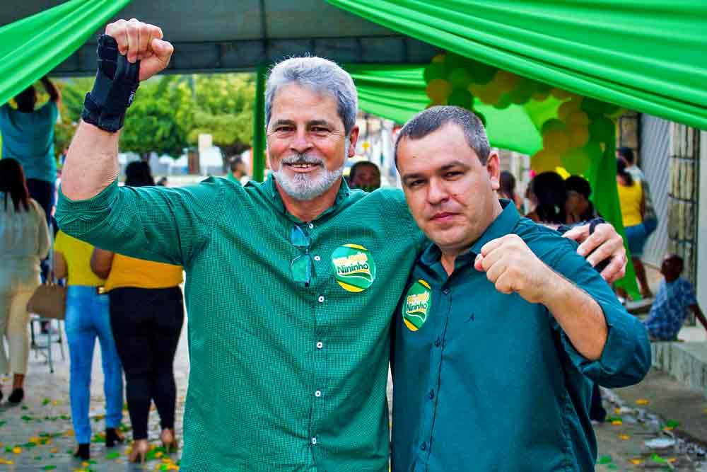 Candidatos: Vice Fonseca e Prefeito Nininho