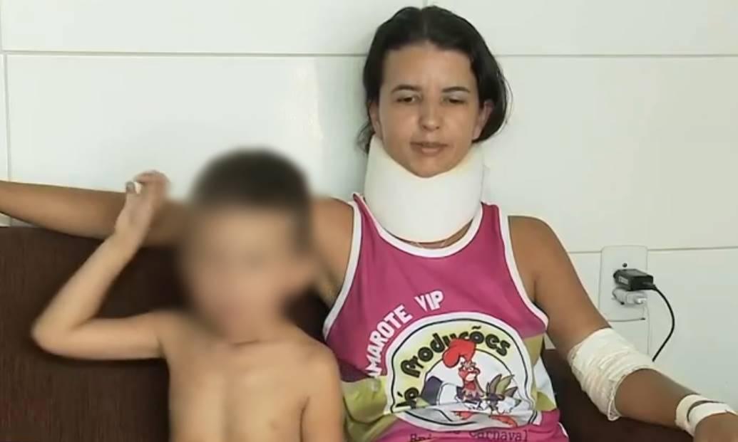 Vanessa e Guilherme sofreram alguns ferimentos, mas passam bem — © Reprodução/Tv Gazeta