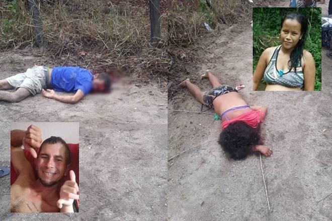 Casal morre em acidente de moto na zona rural de Santana do Mundaú — © Cortesia ao BR104