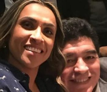 Marta e Maradona — © reprodução