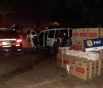 PRF prende homem com 40 caixas de cigarros contrabandeados na BR-316 — © PRF