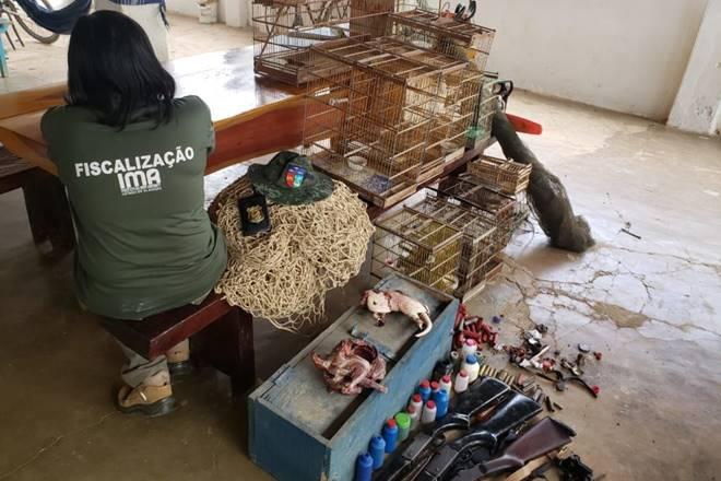 Flagrante de civis armados só foi possível com suporte do Batalhão de Polícia Ambiental (BPA) — © Assessoria
