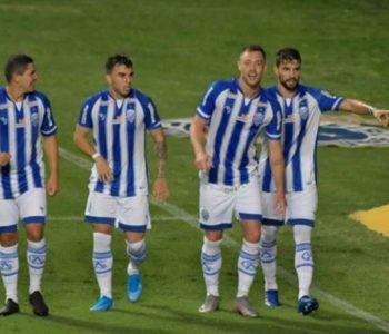 Jogadores do CSA comemorando gol — © Gustavo rabelo
