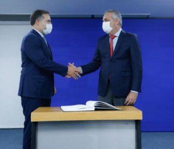 Alfredo Gaspar foi empossado nesta sexta (8) no cargo de secretário da Segurança Pública — © Felipe Brasil