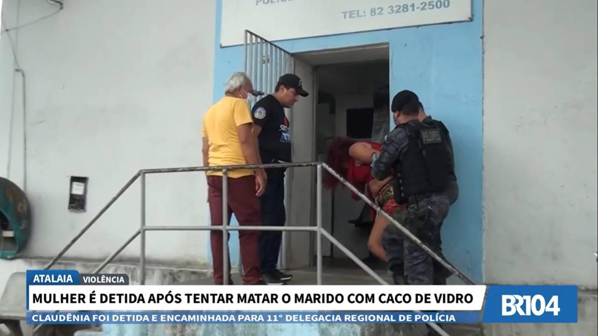 Claudência foi detida e encaminhada à 11ª DRP, em União dos Palmares — © Reprodução/Doze em Ponto