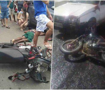 Dois acidentes em São José da Laje