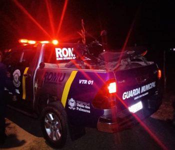 Moto foi encontrada em uma estrada vicinal pela Guarda Municipal — © Cortesia
