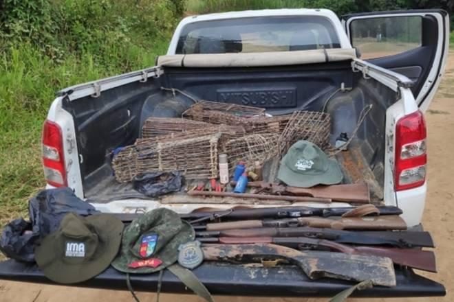 Material apreendido durante operação conjunta em áreas de proteção ambiental — © Cortesia