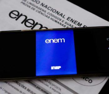 O Enem digital será aplicado em locais designados pelo Inep — © Reprodução