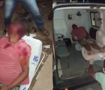 Vítima foi socorrida por ambulância do município — © Reprodução