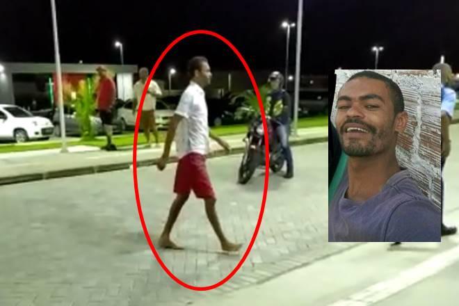 A vítima chegou ao hospital andando, acompanhado de um segurança da unidade — © Reprodução