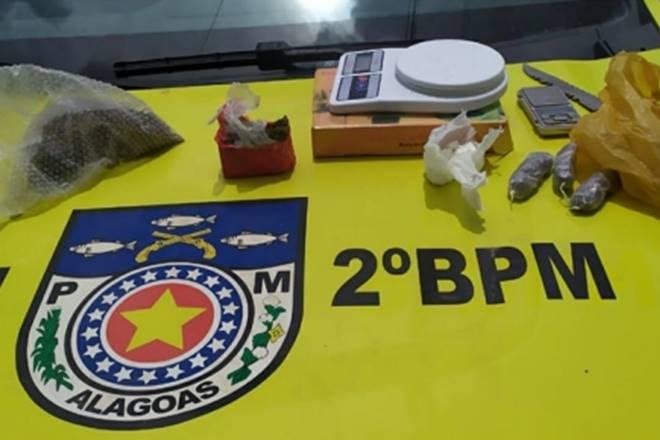 Material encontrado dentro de imóvel pela guarnição da Força Tarefa — © Cortesia