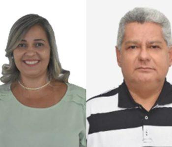 """Fabrícia Vera (MDB) e """"Zé da Galera"""" (PP) — © Reprodução/divulgacand"""