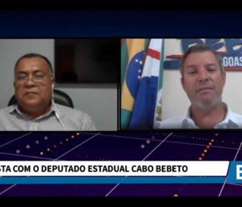 Entrevista com deputado cabo Bebeto - © Reprodução/BR360