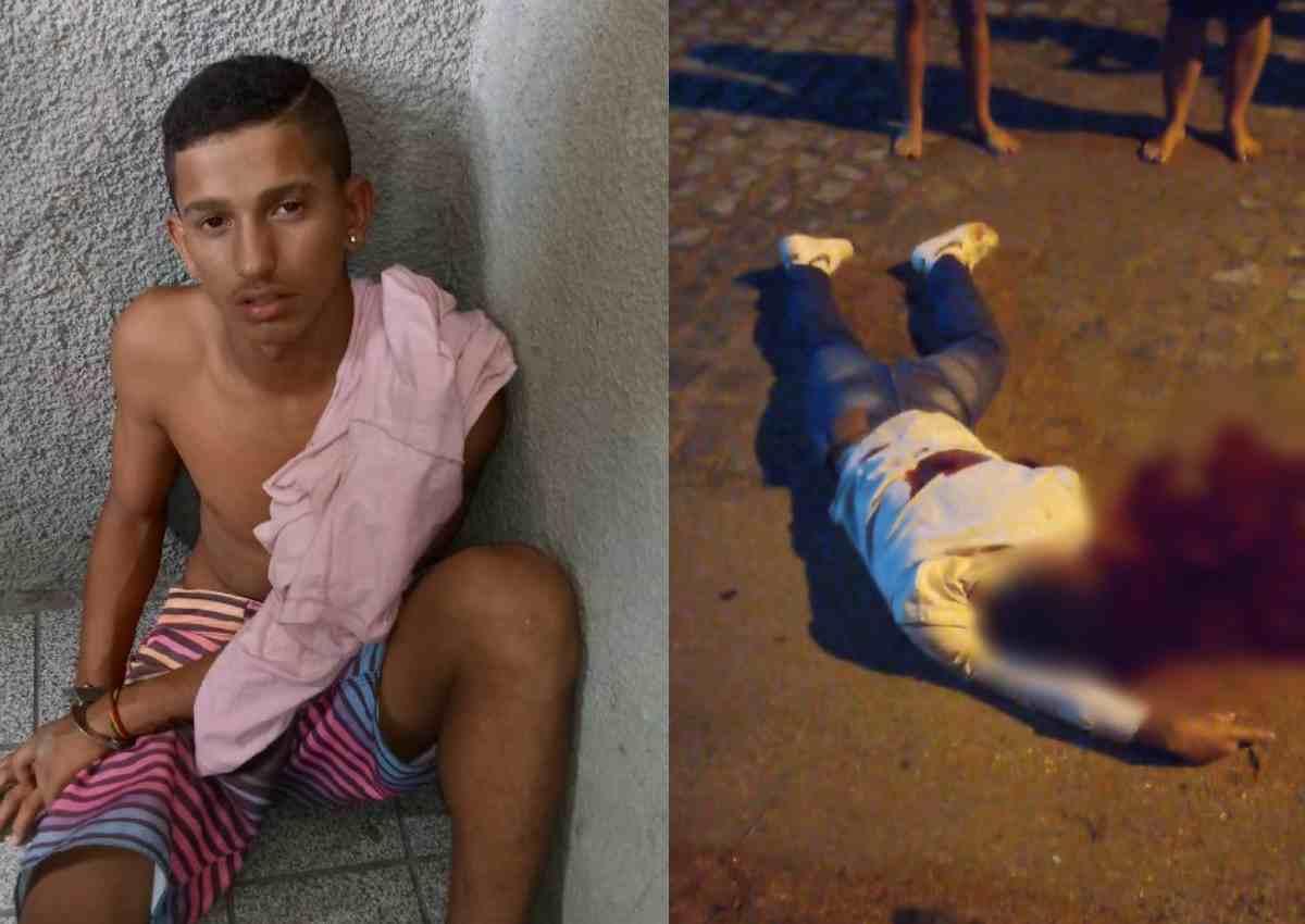 A vítima foi identificada como Carlos Henrique da Silva, que morreu no local — © Reprodução