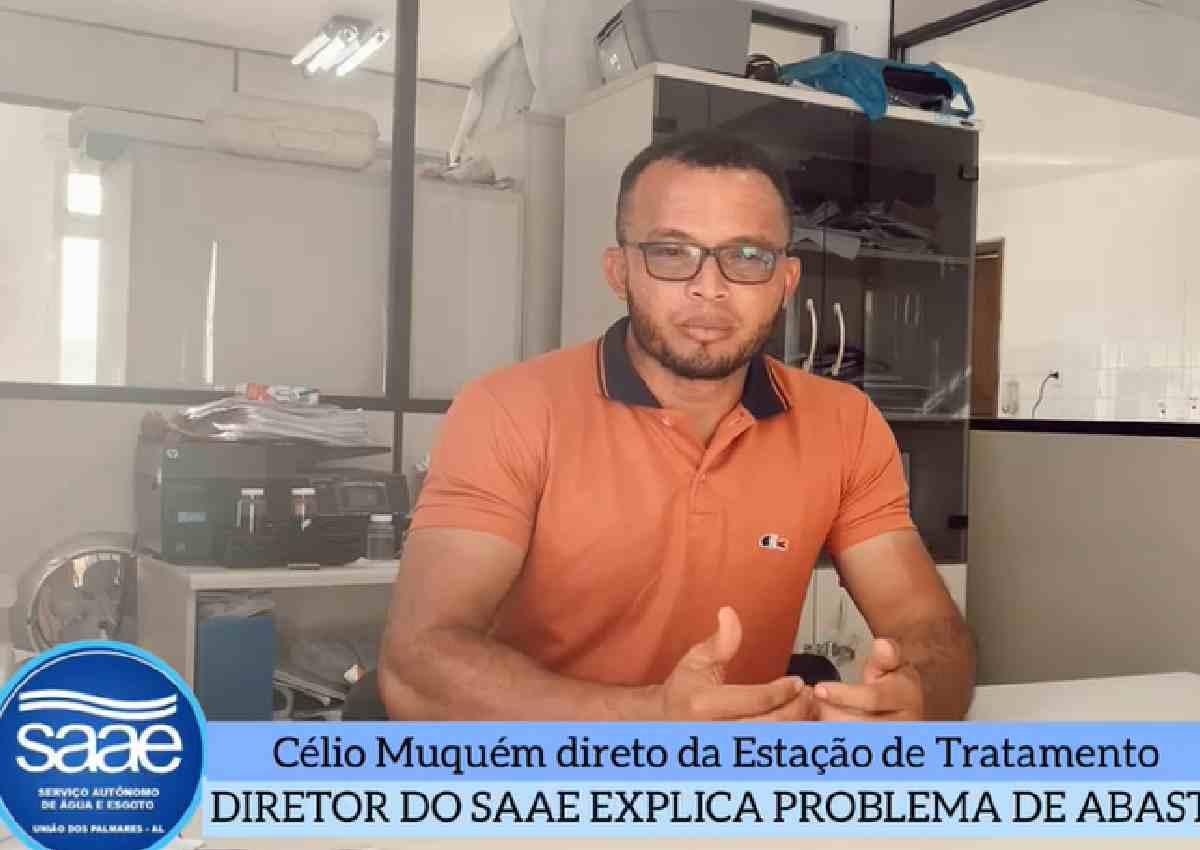 Célio Muquém, diretor do SAAE de União dos Palmares — © Reprodução