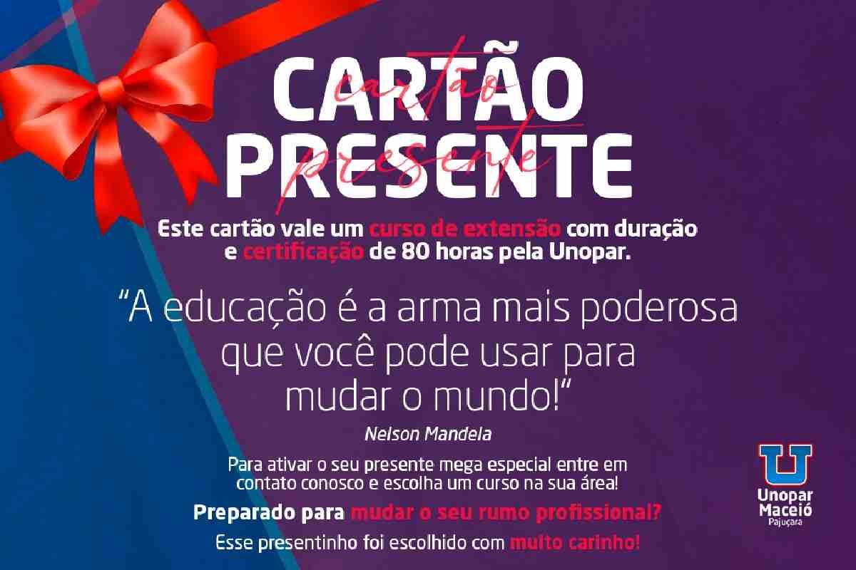 Cartão Presente Unopar — © Divulgação