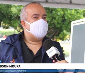 Claydson Moura, coordenador de gabinete de combate à Covid — © Reprodução