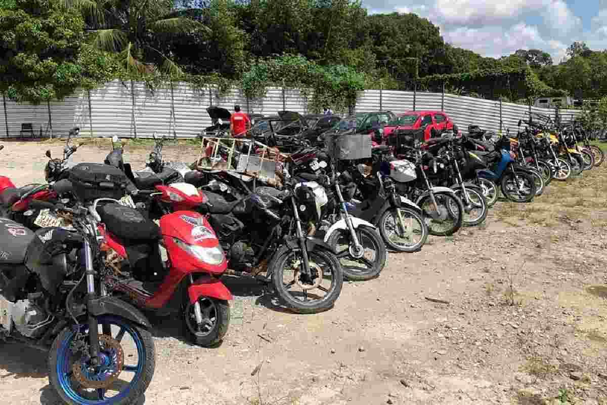 Veículos recolhidos pela SMTT Maceió – © Assessoria/SMTT