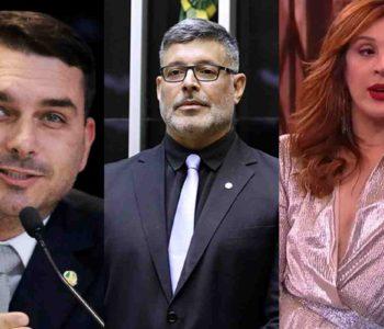 Flávio Bolsonaro, Alexandre Frota e Claudia Raia. Foto: Reprodução da internet)