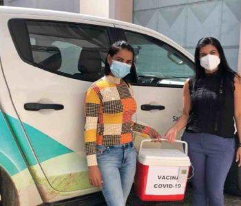 Imunizante da Pfizer chegando em Santana do Mundaú – © Assessoria