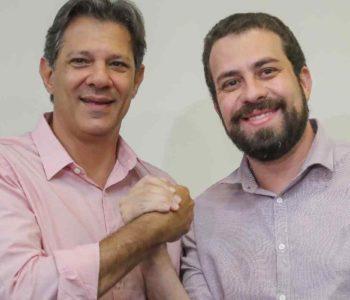 Fernando Haddad (PT) e Guilherme Boulos (PSOL) – © Ricardo Stuckert