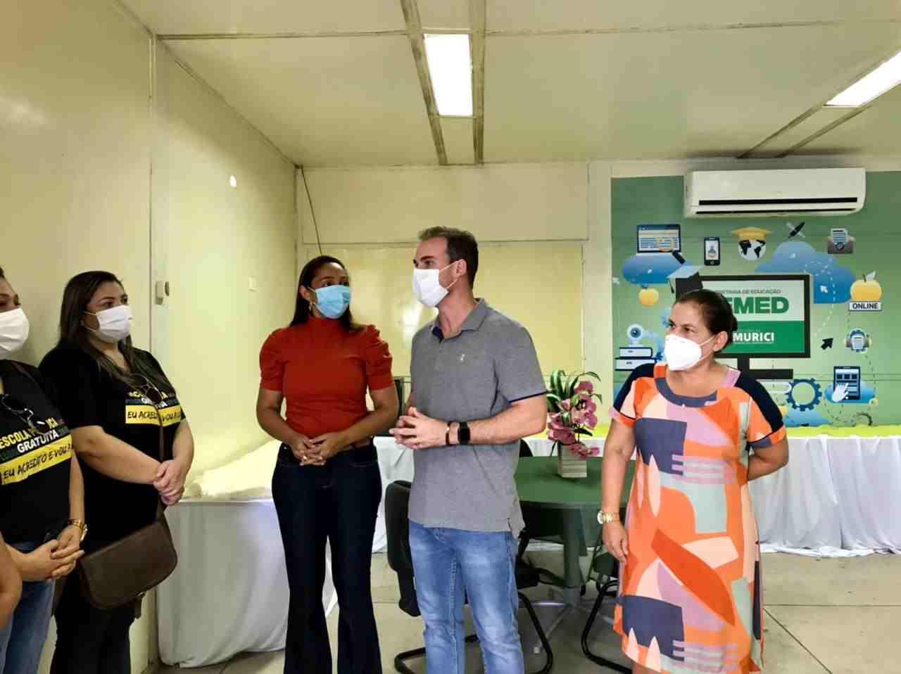 Olavo Neto inaugura primeira sala multimídia de Murici –© Assessoria