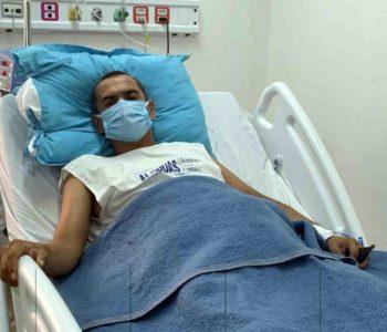 Após uma cirurgia que durou seis horas, Itálo se recupera no HRM | © Lorena Dantas