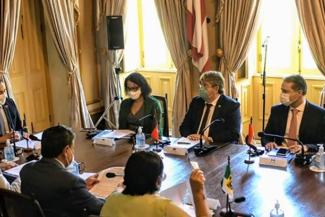 Governador de Alagoas ao lado de governadores - @Reprodução