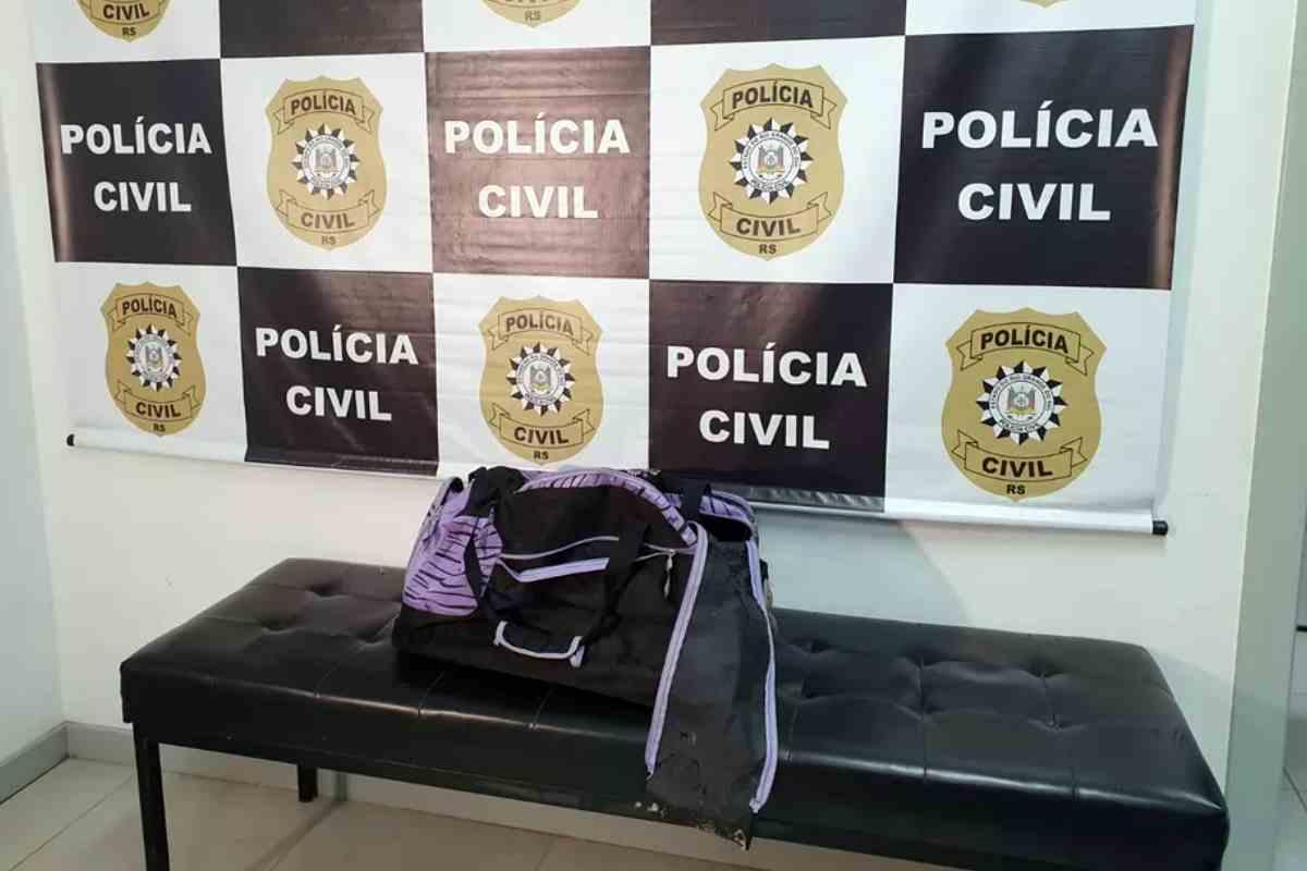 Mala onde corpo da criança foi colocado para ser transportado, segundo a polícia | © Alfredo Pereira / RBS TV