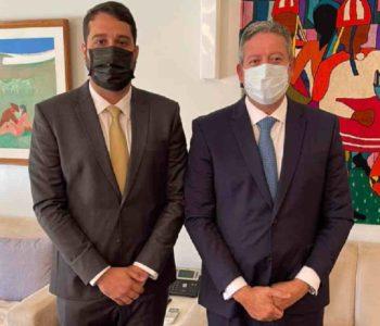 Arthur Freitas com presidente da Câmara Arthur Lira – © Assessoria