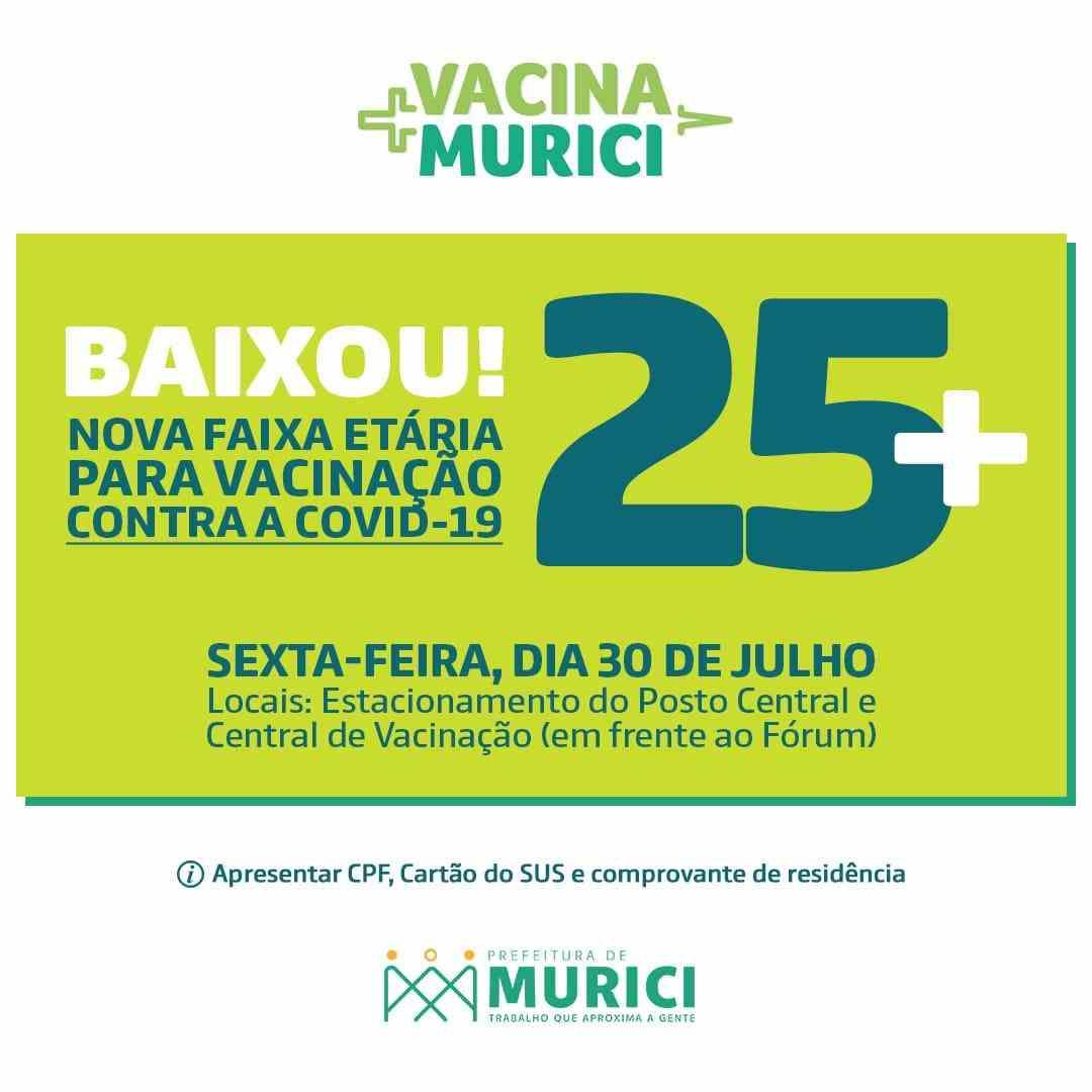 Cartaz de vacinação do município –© Assessoria