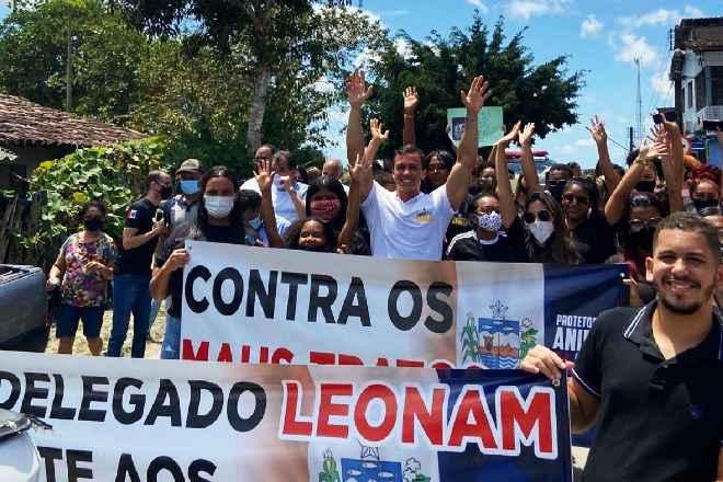 Delegado Leonam Pinheiro participou de caminhada contra maus-tratos aos animais | © Arquivo Pessoal