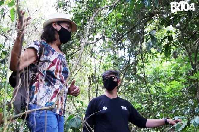 Jornalista Genisete Lucena e Marcos Diniz, Técnico de Gerência de Fauna do IMA | © BR104