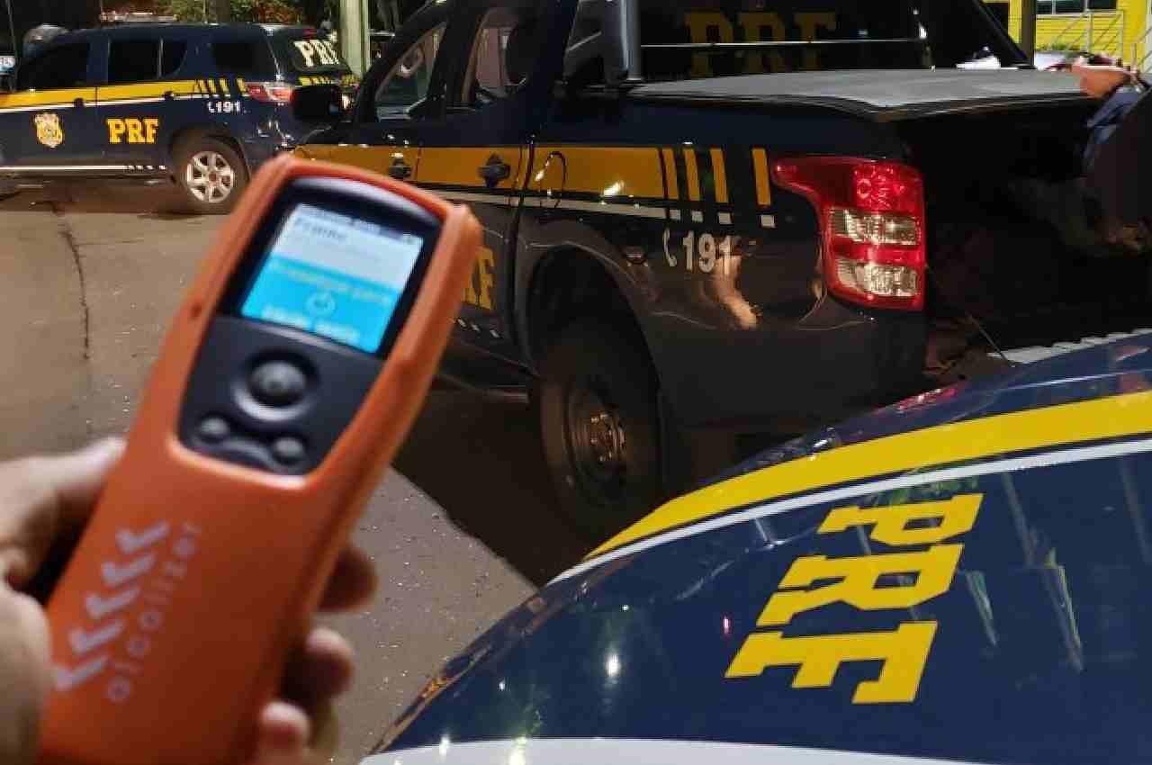 O motorista causador do acidente apontou 0,56 miligramas de álcool por litro de ar expelido dos pulmões | © PRF