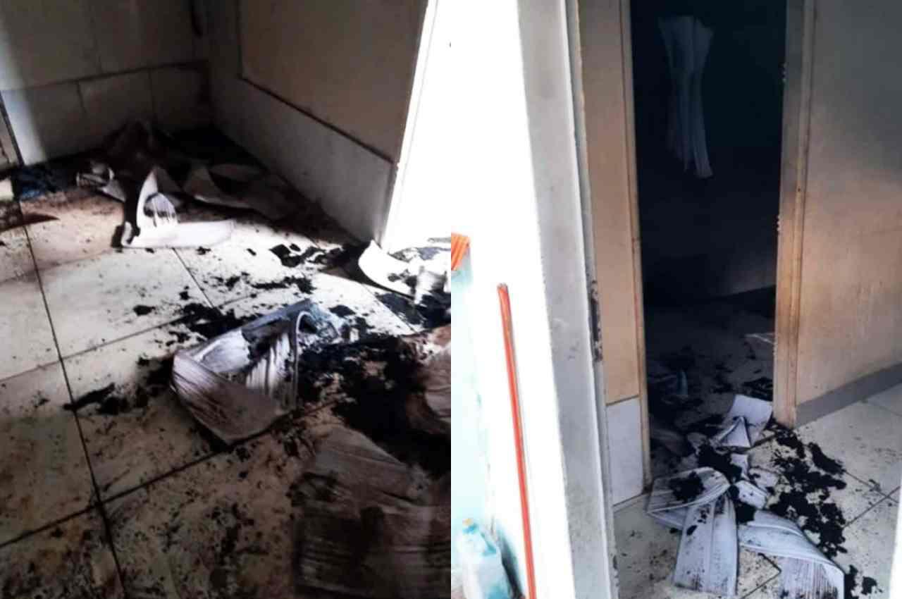 Casa queimou bastante e bebês foram salvos por vizinhos   © Conselho Tutelar da Região Norte de Goiânia