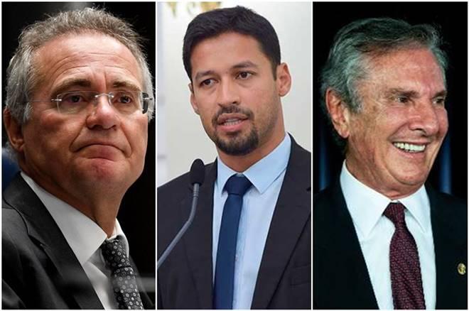 Renan Calheiros, Rodrigo Cunha e Fernando Collor